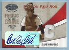 CARLTON FISK 2004 LEAF CERTIFIED MATERIALS FABRIC OF THE GAME JERSEY AUTO 5 5