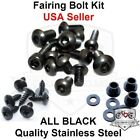 Black Fairing Bolt Kit Body Work Screws Fasteners for Honda CBR 600 F4 F4i 99 07