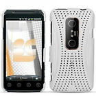 For Sprint HTC EVO 3D Rubber Hard Protector Case Snap Phone Cover Xmatrix White