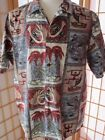 Mens Vintage ISLAND WEAR Made n Hawaii Aloha Hawaiian Button Down Shirt Shirts L