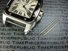 2pcs New 24.5mm Stainless Strap Screw Band CARTIER SANTOS 100 XL Chronograph
