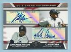 CURTIS GRANDERSON MELKY CABRERA 2007 TOPPS CO-SIGNERS DUAL AUTOGRAPH AUTO