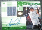 2002 UPPER DECK FAIRWAY FABRICS TIGER WOODS AUTOGRAPH SWATCH HOBBY GREEN
