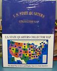 1999 08 US STATE QUARTERS COIN COLLECTORS MAP OF USA WITH 2 FREE QUARTERS
