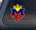 MP: Manny Pacquiao Philippine Flag Sun Car Decal / Stickers