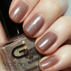 Glitter Gal - Suede - Light Nude Brown Beige Holographic Holo 3D Nail Polish
