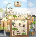 SoHo Curious Monkey Baby Crib Nursery Bedding Set 13 pcs included Diaper Bag