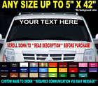 CUSTOM WINDSHIELD TEXT LETTERING 5 x 42 VINYL DECAL STICKER BUSINESS BOAT SIGN