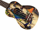 Green with Cute Zombie Pattern 21 Soprano Ukulele  Ukulele Bag Limited