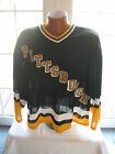 NWT CCM 1990's Old Logo PITTSBURGH PENGUINS Authentic Jersey Large New RARE
