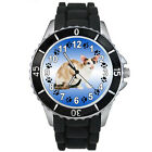 Oriental Cat Mens Ladies Unisex Black Jelly Silicone Band Wrist Watch S197E