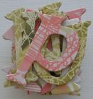 Basic Grey PORCELAIN Chipboard Alphabet Letters and Die Cuts 15