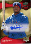 Elvis Andrus 2009 Upper Deck Icons AUTOGRAPH ROOKIE RC 114 300 D763