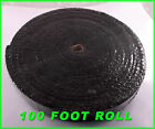 BLACK EXHAUST HEAT HEADER PIPE WRAP ROLL 1 8X2X 100 FT INSULATING SHIELD TAPE