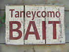 Branson Lake TANEYCOMO BAIT Hand Painted Sign ~ Vintage Look