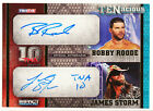 2012 TNA TENacious Dual Autograph Auto Gold Bobby Roode Storm Inscribed 035 100