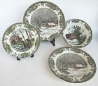 Lot NEW Johnson Brothers Friendly Village School House~ Dinner Plates/Vegetable