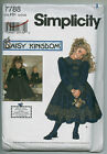 Daisy Kingdom Girls' Dress 3 4 5 6 and Doll Dress Sewing Pattern Simplicity 7788