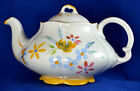 Ellgreave WOOD & SONS England, Hand Painted Ironstone White Floral Teapot