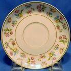ANTIQUE M REDON PL LIMOGES SAUCER ONLY WHITE WITH FLORAL PATTERN