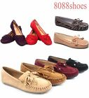 Womens Cute Slip On Fringe Boat Loafers Moccasins Flat Shoes Size 55 10 NEW
