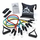 Black Mountain Products Resistance Band Set with Door Anchor, Ankle Strap, Exerc