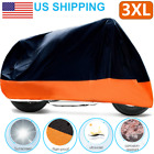 XXL Motorcycle Bike Cover Waterproof For Harley Davidson Outdoor Rain Dust Large