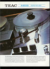 Collectible Teac A-6010U Reel To Reel Stereo Tape Deck Dealer Brochure Info Ad