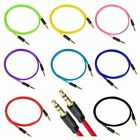 35mm Flat Male to male Stereo Audio Auxiliary AUX Cable for Music PC Car Phone