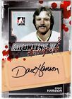 Dave Hanson 2013-14 In The Game Enforcers 2 II Autograph AUTO Card *J158