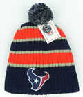 HOUSTON TEXANS NFL VINTAGE KNIT RETRO REEBOK POM BEANIE CAP HAT NEW!