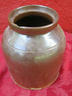 Antique Brown Crock Jug Jar Churn Pottery Stoneware Hand Thrown 9