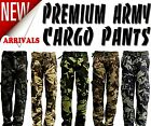 New Mens Premium Casual Military Army Camouflage Camo Cargo Combat Work Pants