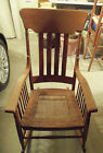 Antique Solid Oak Rocker Rocking Chair - Cane Seat & Spindles - From Ohio Farm