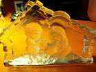 Goebel 1978 Glass Nativity Sculpture Scene Collectible Perfect Holiday Accent
