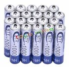 20x AAA 1000mAh 1.2V Ni-MH Rechargeable battery 3A BTY Cell for MP3 RC Toys USA