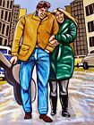 BOB DYLAN FREEWHEELIN' PAINTING 1960s folk music new york city greenwich village