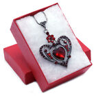 Mom Mothers day gifts Valentines Day Red Heart Charm Pendant Necklace Jewelry