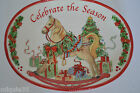 Fitz And Floyd Sentiment Tray Celebrate the Season Christmas Rocking Horse Plate