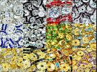 A+ glass gold silver rhinestone rondelle spacer beads in sizes and colours