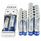 12x 2A AA 3000mAh + 12x AAA 1000mAh 1.2V NI-MH BTY Rechargeable Battery+Charger