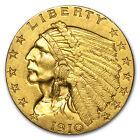 $2.50 Indian Quarter Eagle Gold Coin - Random Year - Almost Uncirculated