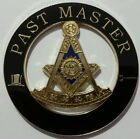 Freemason Past Master Cut-Out Car Emblem with Square in Black (Part# CE 23)
