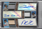 2010 TOPPS TRIPLE THREADS A.HILL R.CANO D.PEDROIA TRIPLE AUTO JERSEY # 18 27