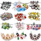 Lot 100 Mix Random Murano Glass Bead for snake Chain charm bracelets