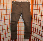 DSQUARED2 KENNY TWIST METAL CHAIN RUNWAY DISTRESSED VINTAGE JEANS PANTS 31 48 46