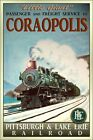 CORAOPOLIS Pennsylvania PLE Railroad Poster Train Travel Retro Art Print 131
