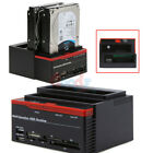 External Triple SATA IDE HDD Docking Station 25 35Hard Drive Card Reader L
