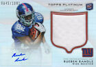 RUEBEN RANDLE 2012 TOPPS PLATINUM ROOKIE PATCH AUTO NEW YORK GIANTS