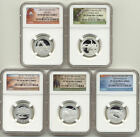 2014 S Silver Quarter Proof Set NGC PF70 America The Beautiful National Parks